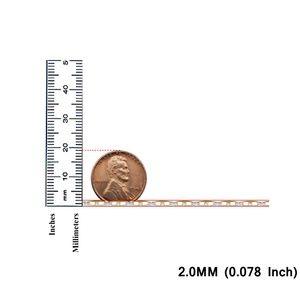 "TGDJ Accessories - 14K Yellow 2.0mm Flat Mariner Pave Chain - 16"""
